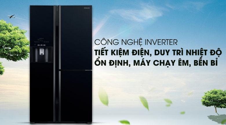 Tích hợp công nghệ Inverter - Tủ lạnh Hitachi Inverter 584 lít R-FM800GPGV2 GBK