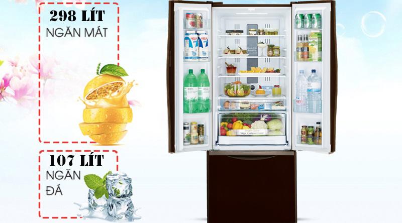 Tủ lạnh Hitachi Inverter 405 lít R-FWB475PGV2 GBK - Dung tích vừa phải, phù hợp gia đình 4 – 5 thành viên