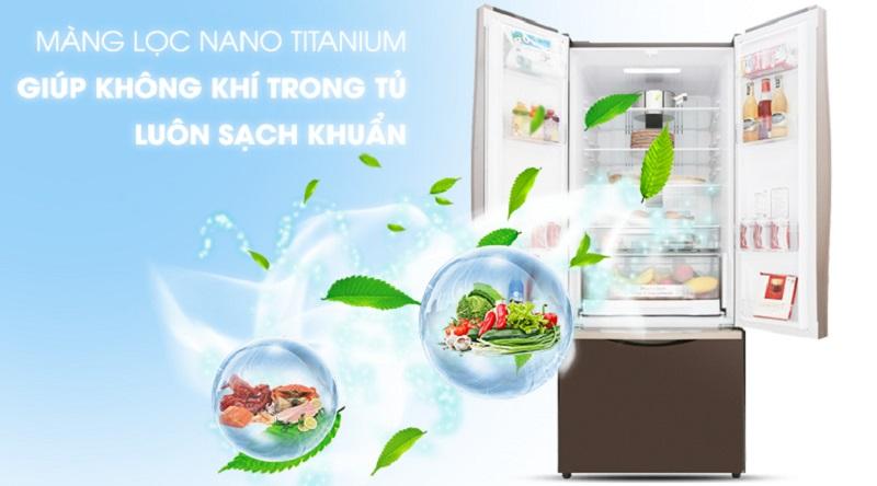 Tủ lạnh Hitachi Inverter 405 lít R-FWB475PGV2 GBK - Kháng khuẩn và khử mùi hiệu quả với bộ lọc Nano Titanium