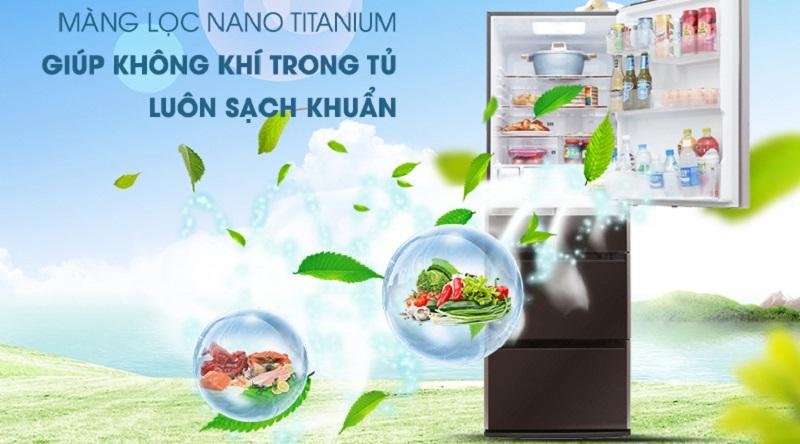 Tủ lạnh Hitachi Inverter 375 lít R-FSG38FPGV GBW - Kháng khuẩn hiệu quả nhờ màng lọc Nano Titanium