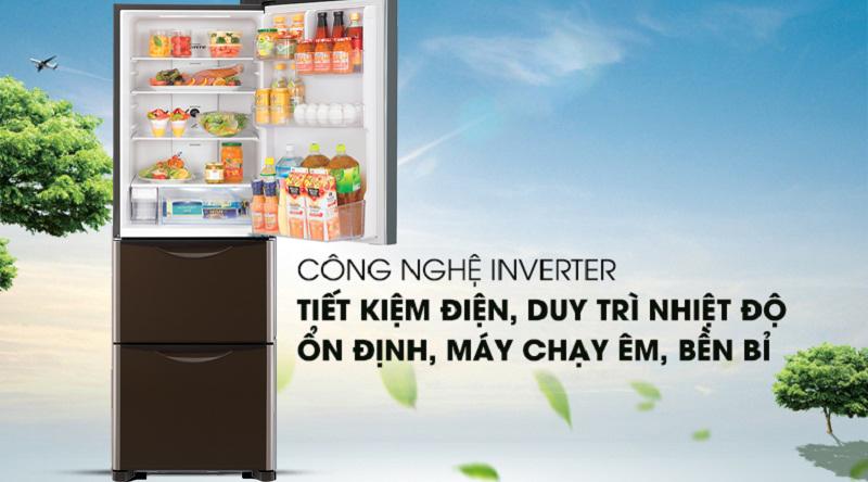Tủ lạnh Hitachi Inverter 375 lít R-FSG38FPGV GBW - Công nghệ mới Inverter tiết kiệm điện hiệu quả