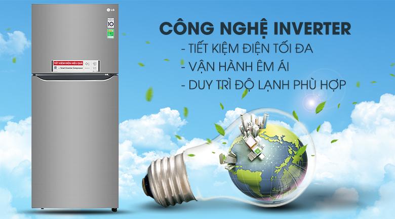 Công nghệ Inverter - Tủ lạnh LG Inverter 393 lít GN-M422PS