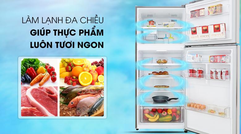 Làm lạnh đa chiều- Tủ lạnh LG Inverter 393 lít GN-M422PS