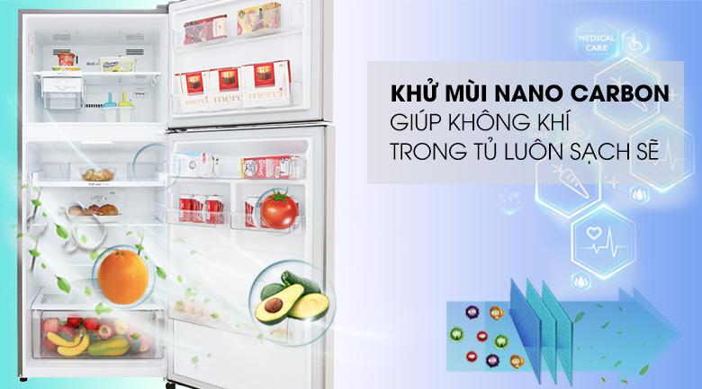 Khử mùi Nano Carbon - Tủ lạnh LG Inverter 393 lít GN-M422PS