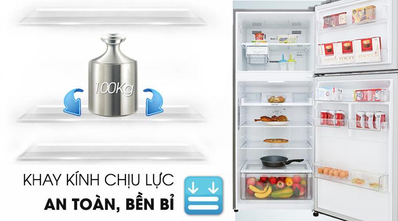 Khay kính chịu lực - Tủ lạnh LG Inverter 393 lít GN-M422PS