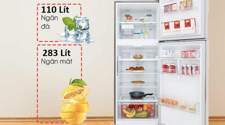 Dung tích 393 lít - Tủ lạnh LG Inverter 393 lít GN-M422PS