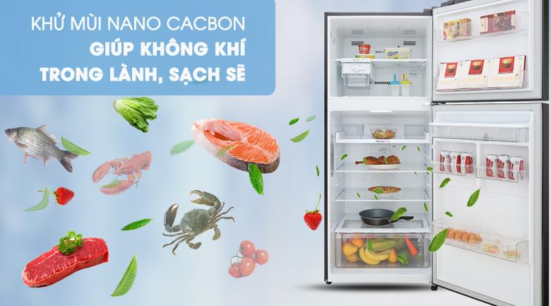 Tủ lạnh LG Inverter 393 lít GN-D422BL - Khửi mùi toàn diện với công nghệ Nano Carbon