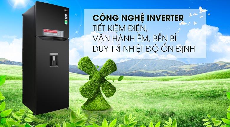 Tủ lạnh LG Inverter 315 lít GN-D315BL Mẫu 2019 - Công nghệ Inverter tiết kiệm điện, vận hành ổn định êm ái