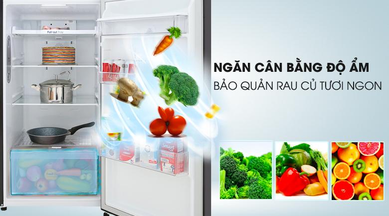 Tủ lạnh LG Inverter 315 lít GN-D315BL Mẫu 2019 - Bảo quản rau củ tươi ngon trong thời gian dài với ngăn cân bằng độ ẩm