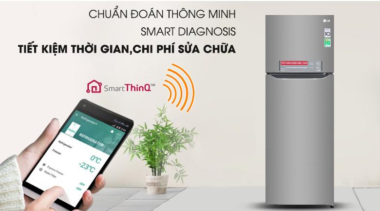 Chẩn đoán lỗi thông minh - Tủ lạnh LG Inverter 315 lít GN-M315PS