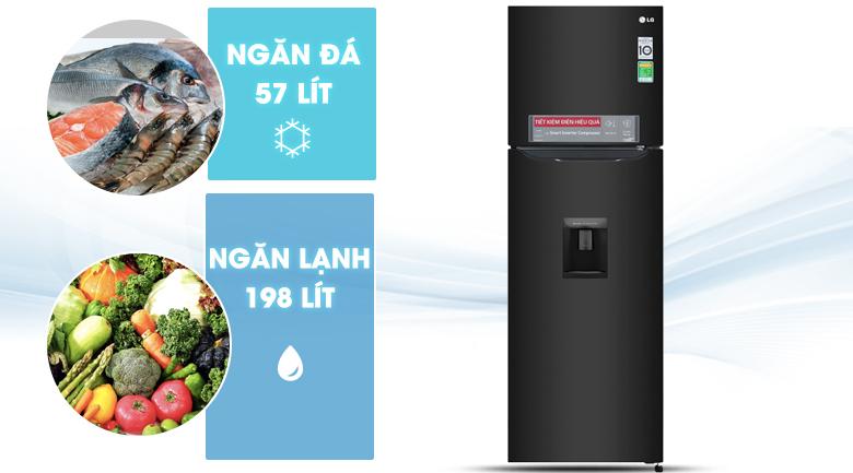 Dung tích 255 lít - Tủ lạnh LG Inverter 255 lít GN-D255BL