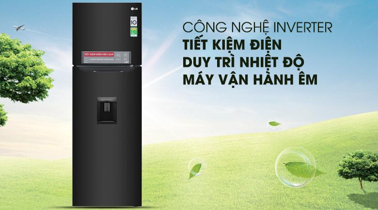 Công nghệ Inverter - Tủ lạnh LG Inverter 255 lít GN-D255BL