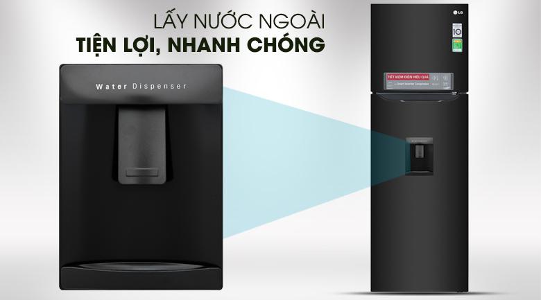 Lấy nước bên ngoài - Tủ lạnh LG Inverter 255 lít GN-D255BL