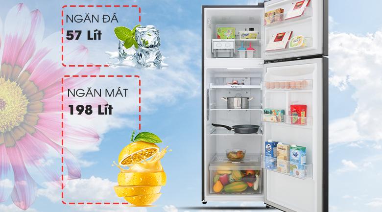 Dung tích sử dụng 255 lít - Tủ lạnh LG Inverter 255 lít GN-M255BL