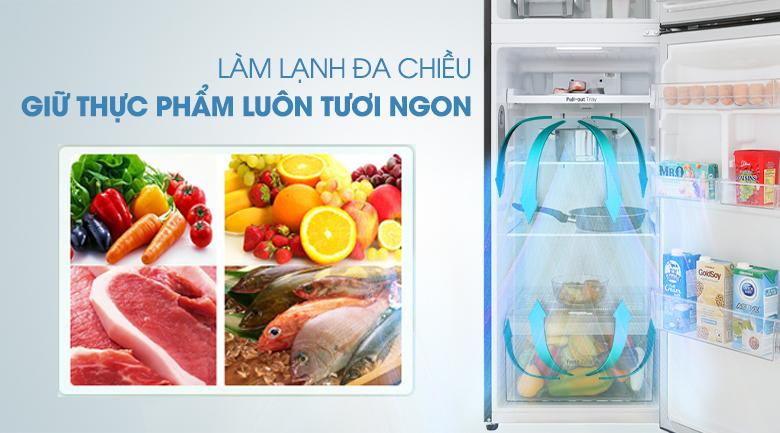 Hệ thống khí lạnh đa chiều - Tủ lạnh LG Inverter 255 lít GN-M255BL