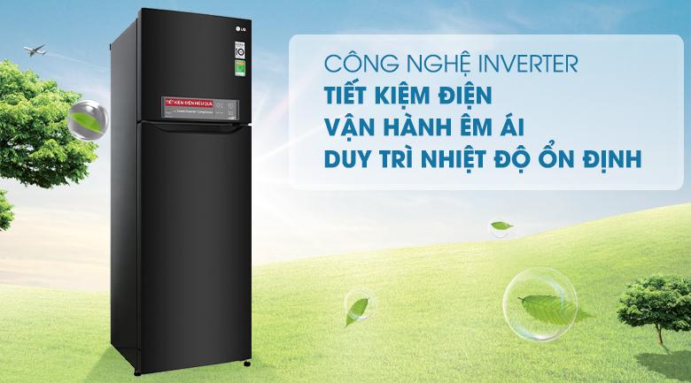 Công nghệ Inverter - Tủ lạnh LG Inverter 255 lít GN-M255BL