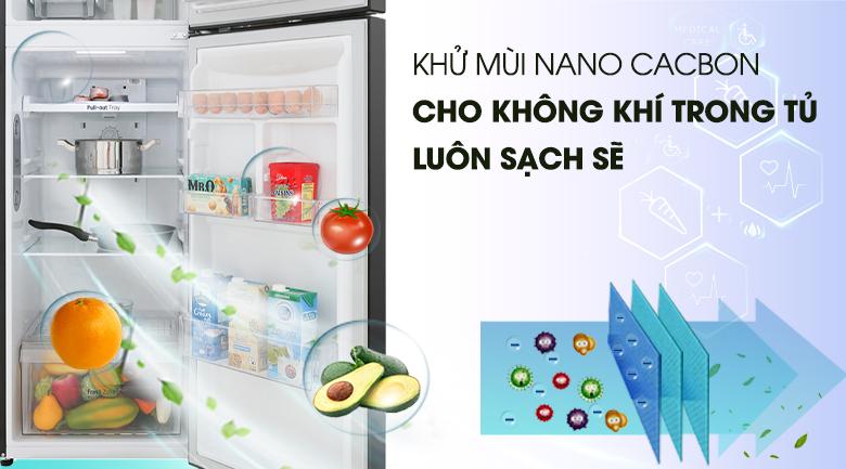 Công nghệ khử mùi Nano Cacbon - Tủ lạnh LG Inverter 255 lít GN-M255BL