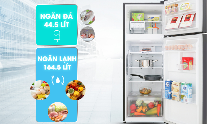 Dung tích sử dụng 208 lít - Tủ lạnh LG Inverter 208 lít GN-M208BL