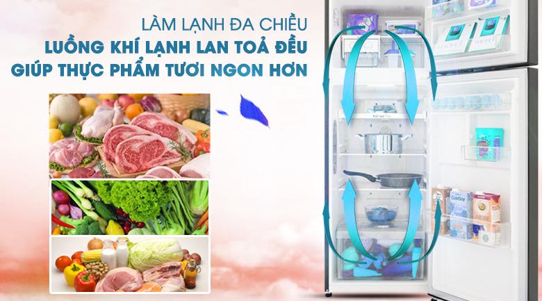 Hệ thống khí lạnh đa chiều - Tủ lạnh LG Inverter 208 lít GN-M208BL