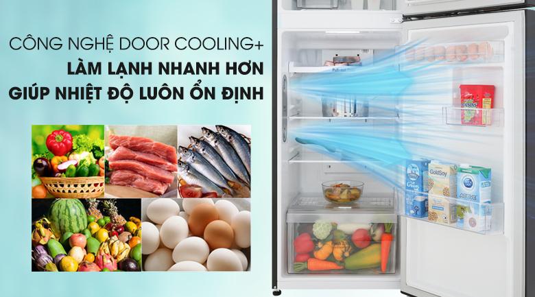 Làm lạnh nhanh hơn với công nghệ DoorCooling+ - Tủ lạnh LG Inverter 208 lít GN-M208BL