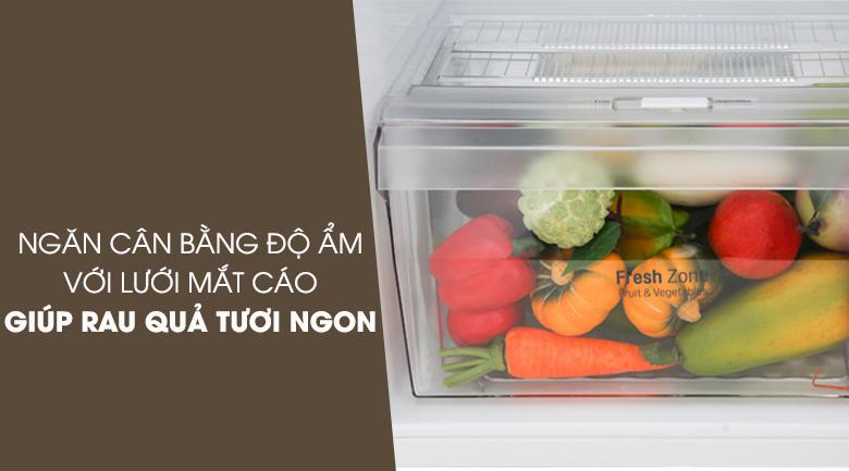Ngăn cân bằng độ ẩm lưới mắt cáo hiện đại - Tủ lạnh LG Inverter 208 lít GN-M208BL