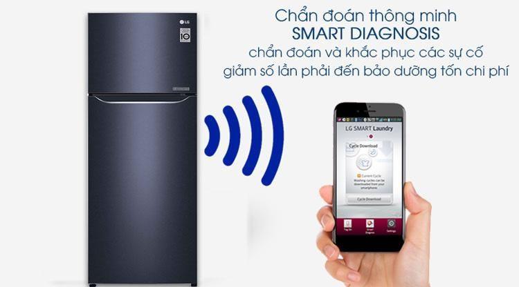 Tích hợp chức năng chuẩn đoán Smart Diagnosis - Tủ lạnh LG Inverter 208 lít GN-M208BL