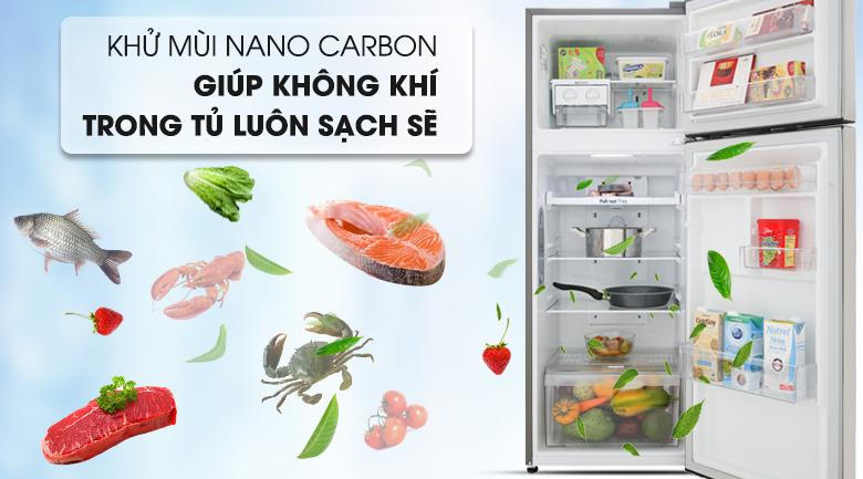 Tủ lạnh LG Inverter 209 lít GN-M208PS - Khử mùi mạnh mẽ nhờ công nghệ Nano Cacbon