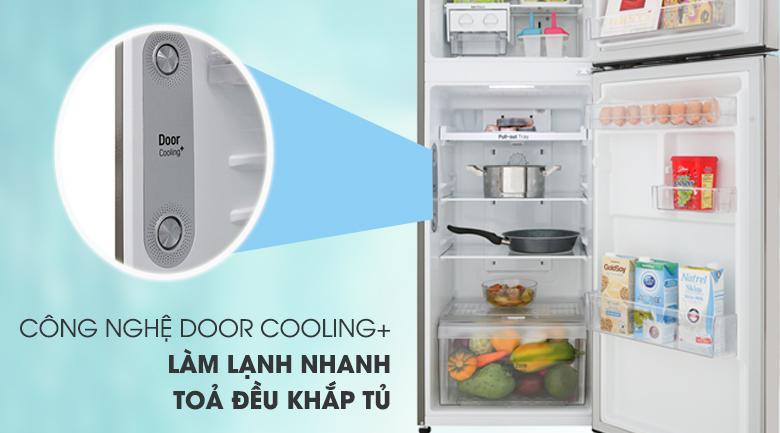 Tủ lạnh LG Inverter 209 lít GN-M208PS- Tăng cường hiệu quả làm lạnh với công nghệ Door Cooling+