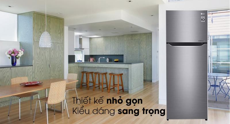 Tủ lạnh LG Inverter 209 lít GN-M208PS - Kiểu dáng sang trọng, nhỏ gọn