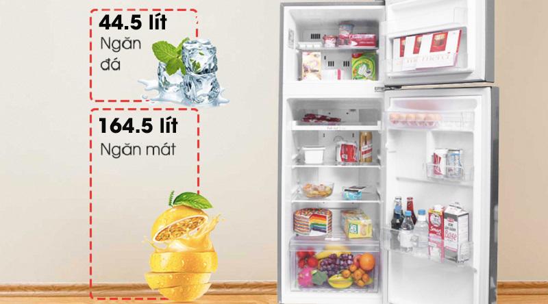 Tủ lạnh LG Inverter 209 lít GN-M208PS - dung tích sử dụng 209 lít
