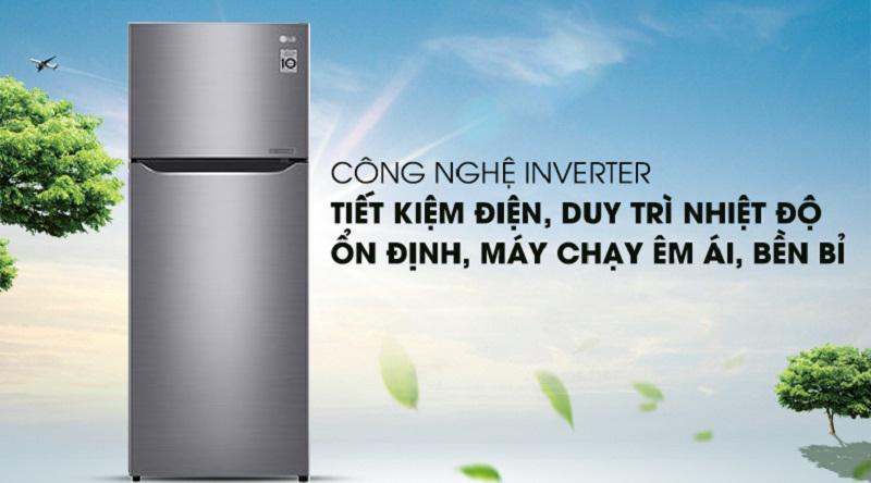 Tủ lạnh LG Inverter 209 lít GN-M208PS - Tiết kiệm điện hiệu quả với công nghệ Inverter