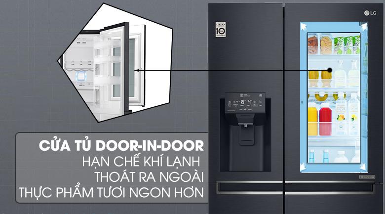 Thiết kế cửa phụ - Tủ lạnh LG Inverter InstaView Door-in-Door 601 lít GR-X247MC
