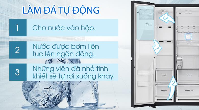 Chức năng tự động làm đá tiện dụng - Tủ lạnh LG Inverter InstaView Door-in-Door 601 lít GR-X247MC