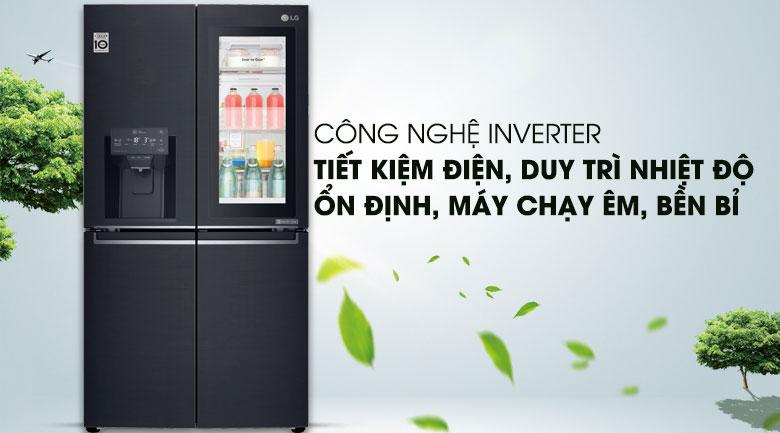 Tiết kiệm điện với Công nghệ Linear Inverter - Tủ lạnh LG Inverter InstaView Door-in-Door 601 lít GR-X247MC