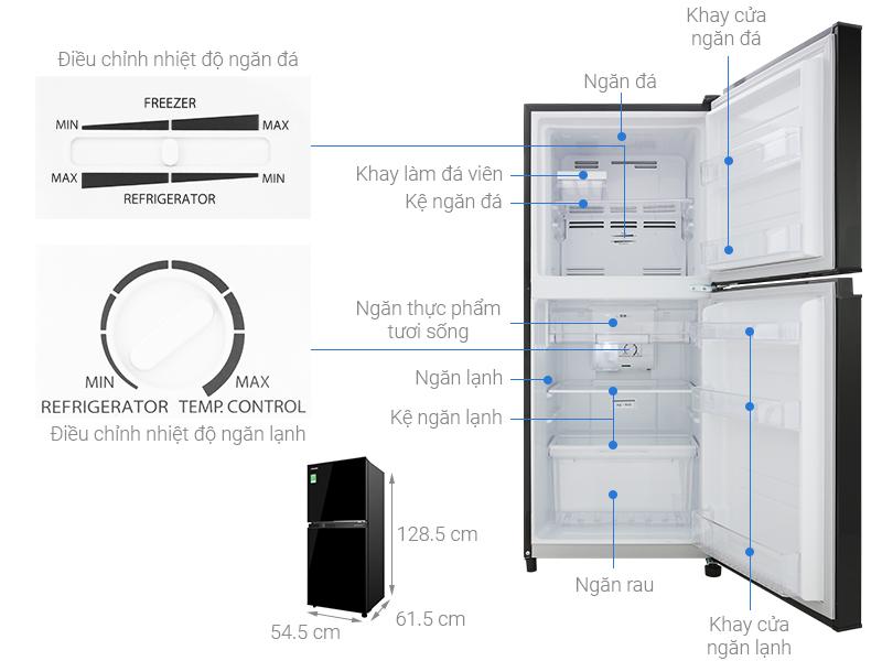 Thông số kỹ thuật Tủ lạnh Toshiba Inverter 180 lít GR-B22VU UKG