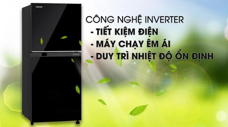 Tủ lạnh Toshiba Inverter 180 lít GR-B22VU UKG- Siêu tiết kiệm điện với công nghệ biến tần Inverter