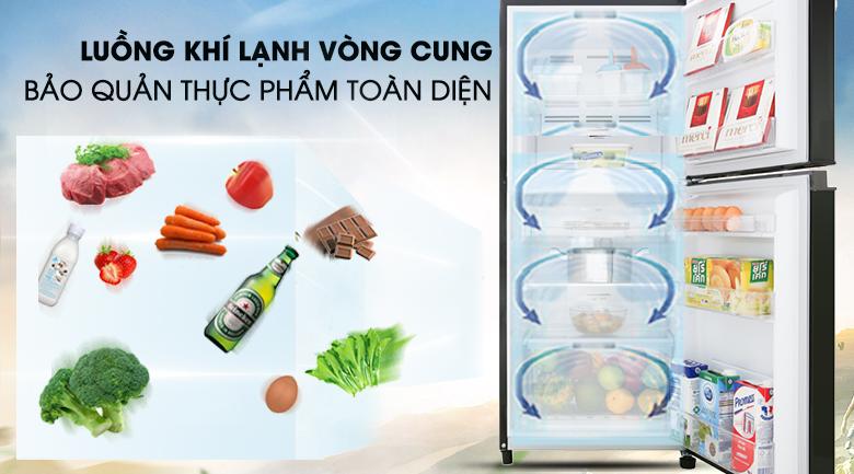 Tủ lạnh Toshiba Inverter 180 lít GR-B22VU UKG - Bảo quản lạnh thực phẩm toàn diện nhờ hệ thống khí lạnh vòng cung