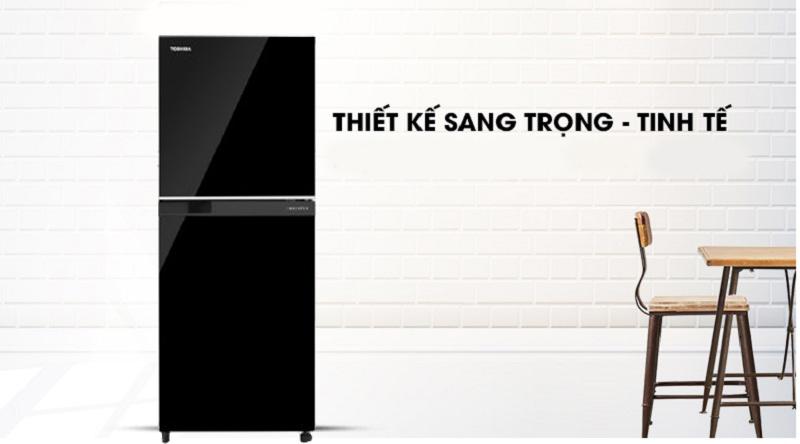 Tủ lạnh Toshiba Inverter 180 lít GR-B22VU UKG - Màu sắc sang trọng, thiết kế nhỏ gọn
