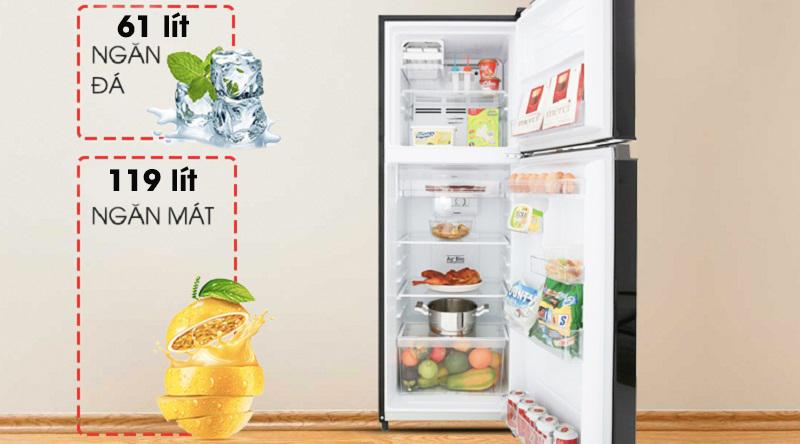Tủ lạnh Toshiba Inverter 180 lít GR-B22VU UKG - dung tích 180 lít
