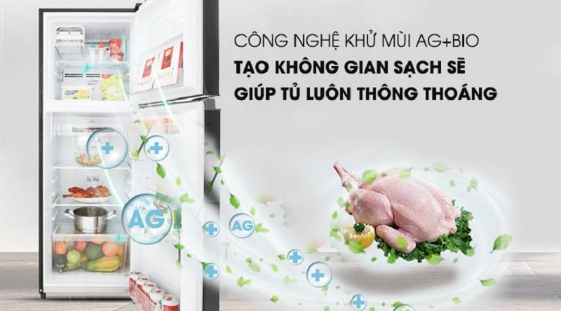 Tủ lạnh Toshiba Inverter 180 lít GR-B22VU UKG- Công nghệ Ag+ Bio kháng khuẩn mạnh và khử mùi tối ưu