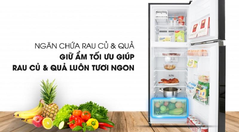 Tủ lạnh Toshiba Inverter 180 lít GR-B22VU UKG - Thoải mái dự trữ rau củ với ngăn chứa lớn