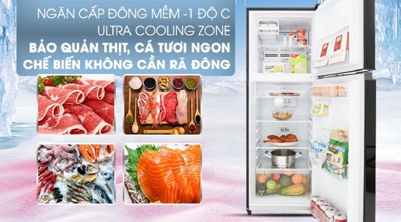 Cấp đông mềm - Tủ lạnh Toshiba Inverter 253 lít GR-B31VU UKG