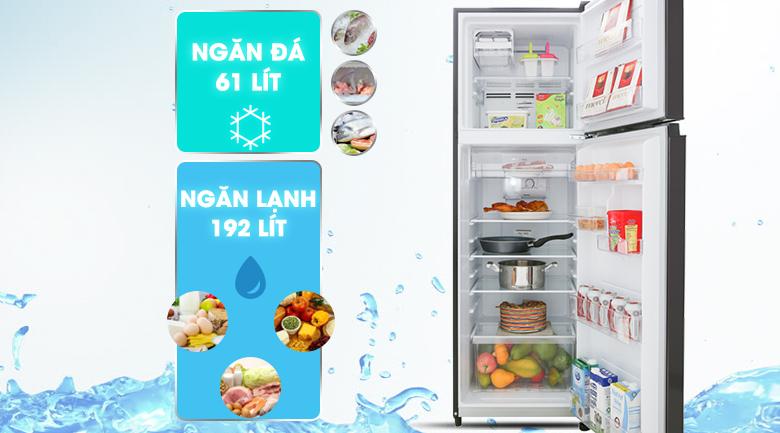 Dung tích 253 lít - Tủ lạnh Toshiba Inverter 253 lít GR-B31VU SK