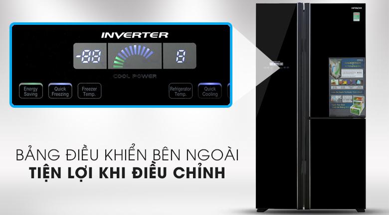 Tủ lạnh Hitachi R-FM800PGV2(GBK) giá rẻ, có trả góp