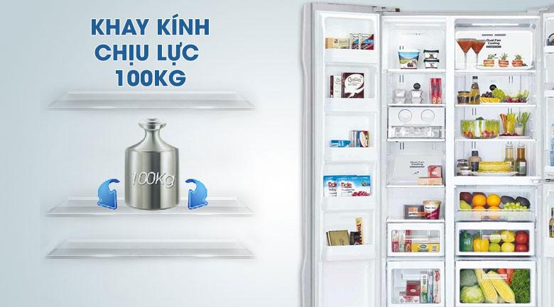 Khay chứa chịu lực bền bỉ, an toàn - Tủ lạnh Hitachi Inverter 600 lít R-FM800PGV2 GBK