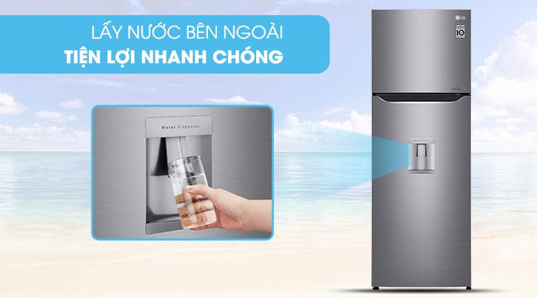 Lấy nước bên ngoài - Tủ lạnh LG Inverter 255 lít GN-D255PS