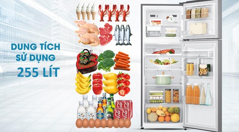 Dung tích 255 lít - Tủ lạnh LG Inverter 255 lít GN-D255PS