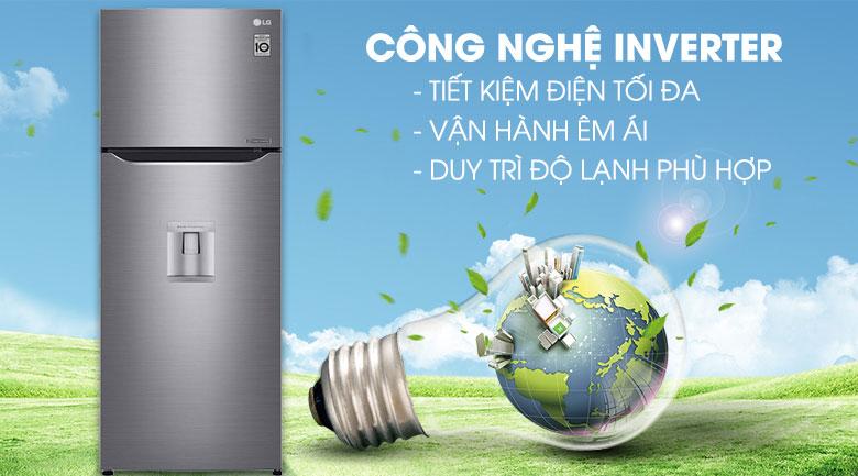 Công nghệ Inverter - Tủ lạnh LG Inverter 315 lít GN-D315S
