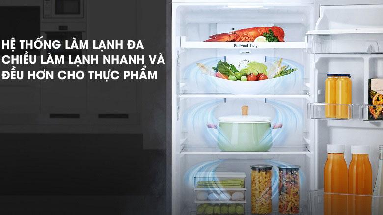 Làm lạnh đa chiều - Tủ lạnh LG Inverter 315 lít GN-D315S