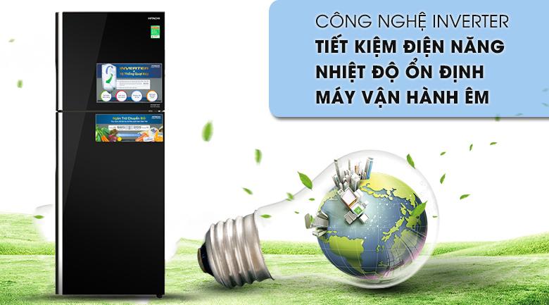 Công nghệ Inverter - Tủ lạnh Hitachi Inverter 366 lít R-FG480PGV8 GBK